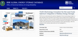 TILOS Registered on DOE Global Energy Storage Database